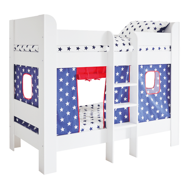 Paddington Bunk Bed with Navy Star Play Curtains Home > Furniture > Bunk Beds G.L.T.C Limited