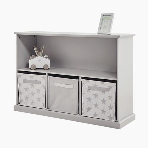 Abbeville Storage Shelf Unit, Cloud Grey