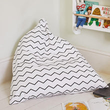 kids' zigzag bean bag