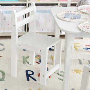 Pied piper toddler chair in white.
