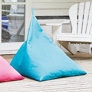 Outdoor bean bag in the shade aqua