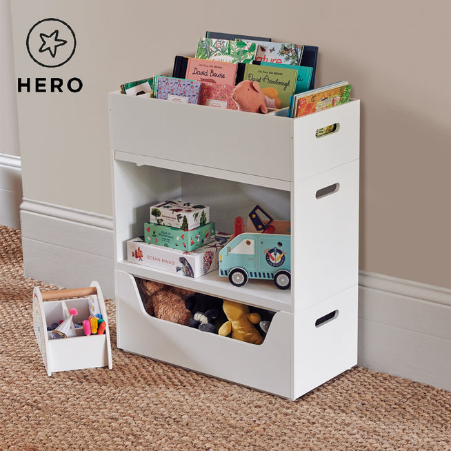 Rackham Storage Set 1 (Toy Box, Book Shelf & Tray) Home > Storage > Stacking Storage GLTC