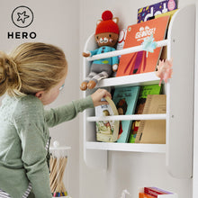 Greenaway mini bookcase in white with children's books.