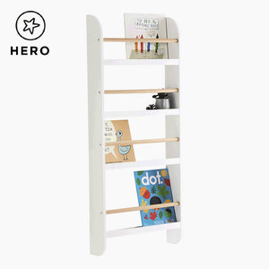 Greenaway Skinny Bookcase, White/Natural