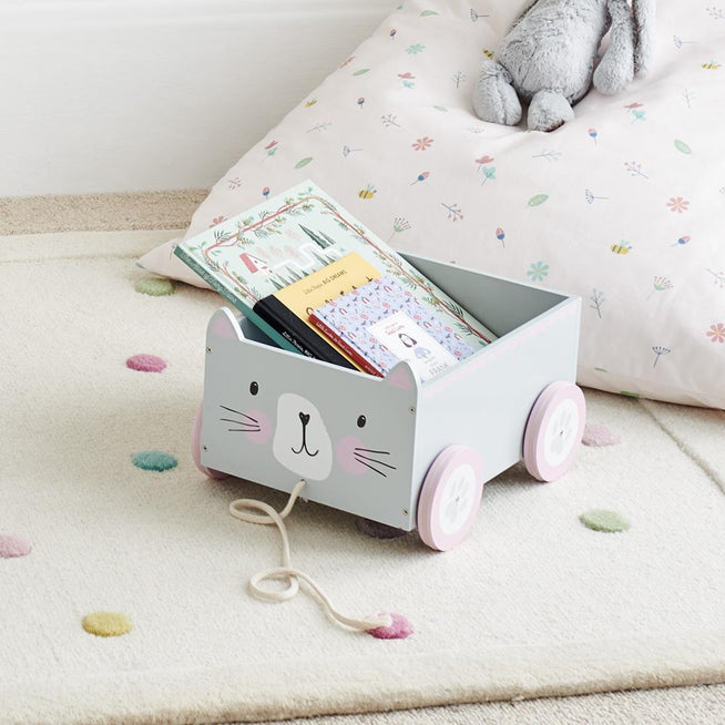 Book Cart, Miss Cat
