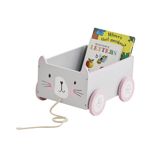 Book Storage Cart, Miss Cat