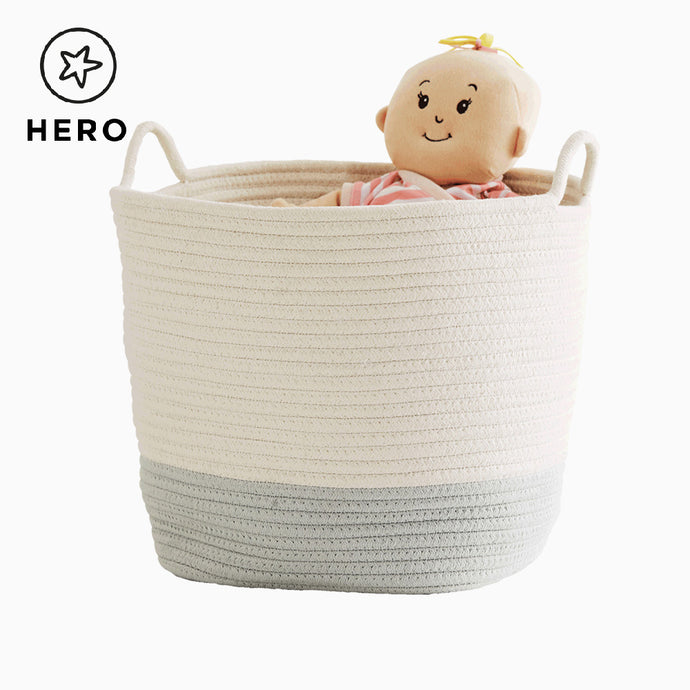Rope Storage Basket, Ivory & Sage