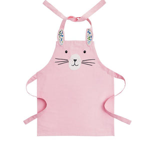 Child's apron in pink inspired by a bunny.