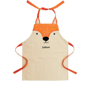 Personalised mr fox child's apron.
