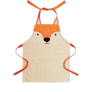 Child's apron with a fox's face.