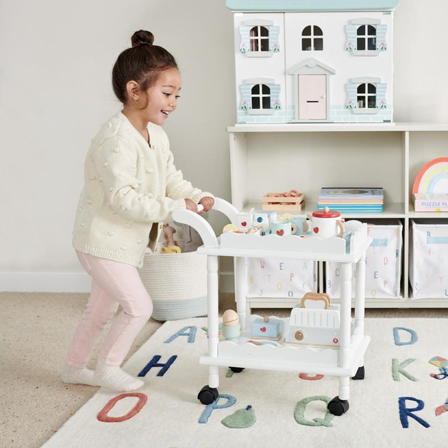 Time For Tea Trolley, White Home > Toys > Play Kitchen Great Little Trading Co.