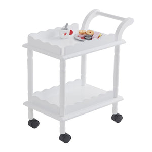 Time for tea trolley in white.