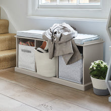 Abbeville Storage Bench, Stone