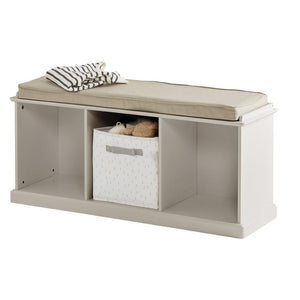 Abbeville Storage Bench Set (Stone Bench & Natural Cushion)