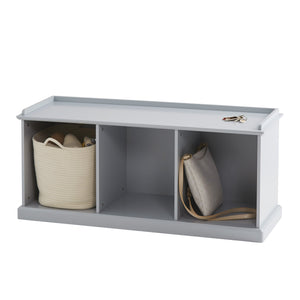 Abbeville Storage Bench, Cloud Grey