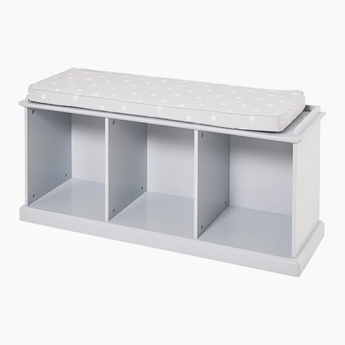 Abbeville Storage Bench Set, Grey with Grey Stardust Cushion