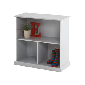 Grey, wooden 3 part storage