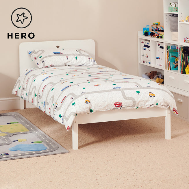 Star Bright Single Bed, Bright White