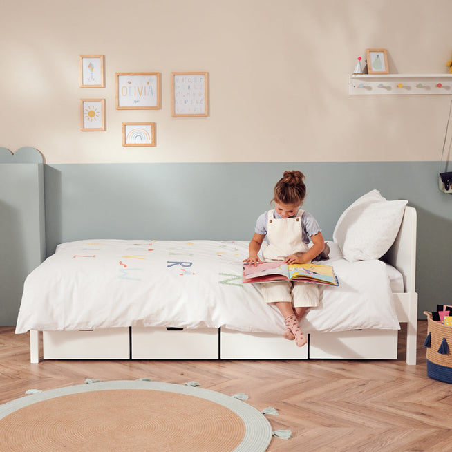 Star Bright Single Bed - Bright White & Classic Mattress