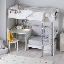 Merlin High Sleeper with Desk, Grey Stardust