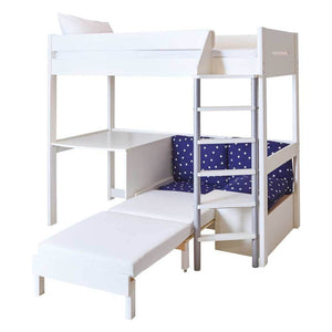 Amazing Merlin High Sleeper With Desk Navy Stardust Gamerscity Chair Design For Home Gamerscityorg