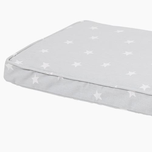 Washable Bench Cushion, Grey Stardust