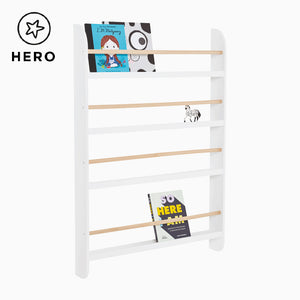 Greenaway Bookcase, White/Natural