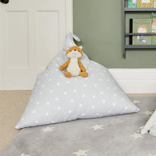 Washable Bean Bag, Grey Stardust