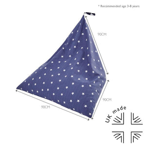 Washable Bean Bag, Navy Stardust