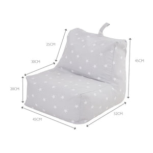 Washable Bean Bag Chair, Grey Stardust