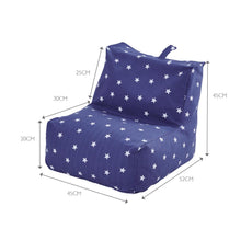 Washable Bean Bag Chair, Navy Stardust