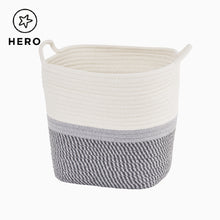 Rope Storage Basket, Grey Belted