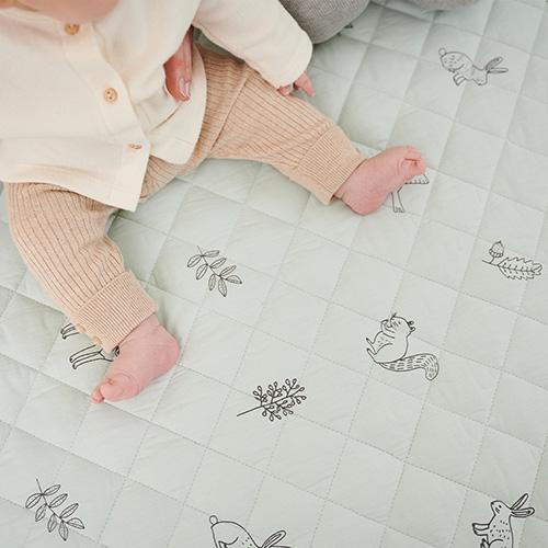 Portable Quilted Playmat, Woodland Animals by Ryn Frank