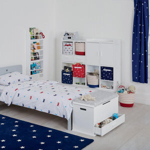 Children's Blackout Curtains - Navy Stardust, W135 x L183 cm