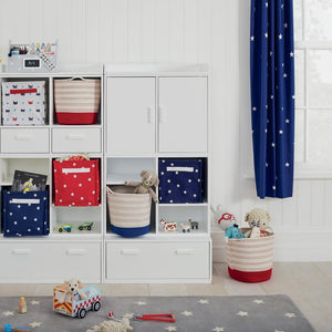 Children's Blackout Curtains - Navy Stardust, W135 x L137 cm