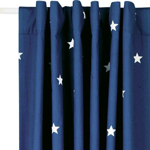 Children's Blackout Curtains - Navy Stardust, W165 x L183 cm