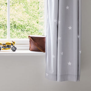 Children's Blackout Curtains - Grey Stardust, W165 x L183 cm