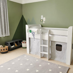 Children's Blackout Curtains - Grey Stardust, W165 x L137 cm