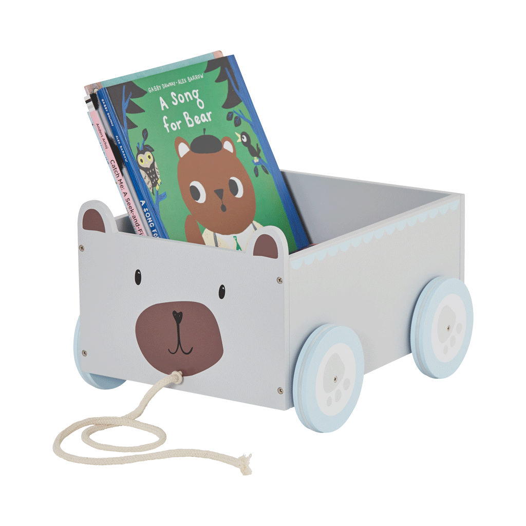 mr bear book cart