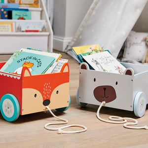 kids' book storage carts
