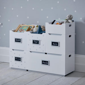 Barbican Toy Storage Box, White Stardust