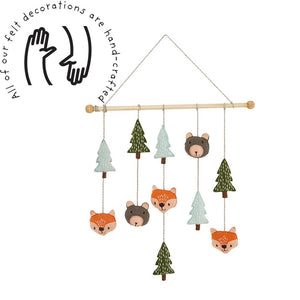 Felt Wall Hanging, Woodland Animals