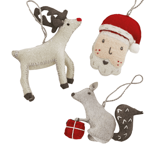 Christmas Tree Decorations (Set of 3)