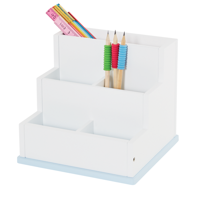 Desk Tidy, White & Blue