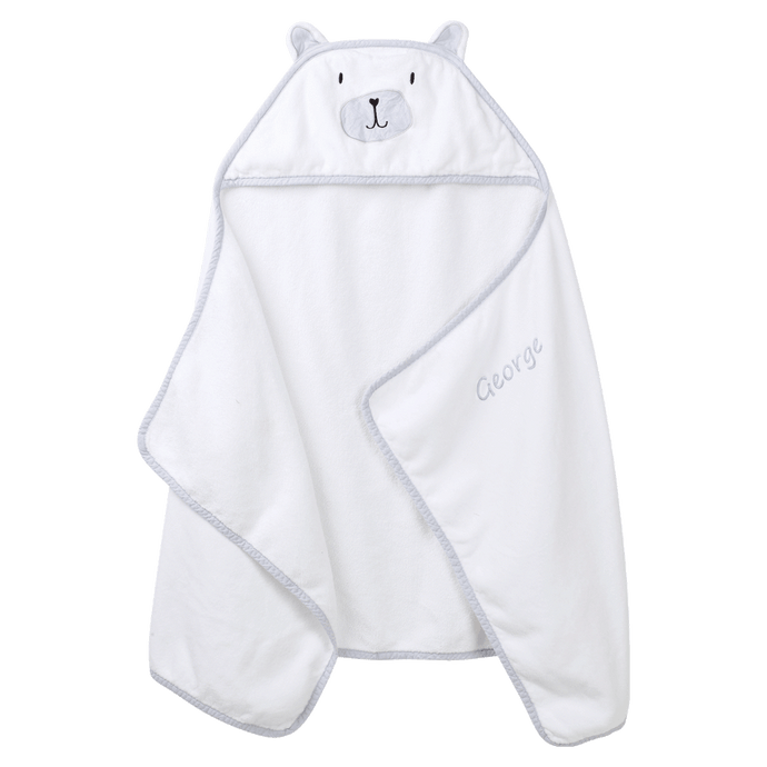 Personalised Hooded Towel,   Bear