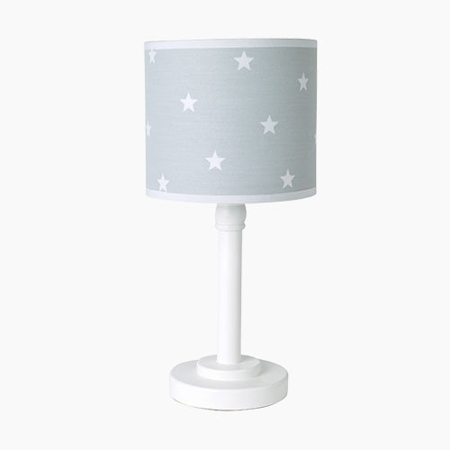 Children's Bedside Lamp, Grey Stardust