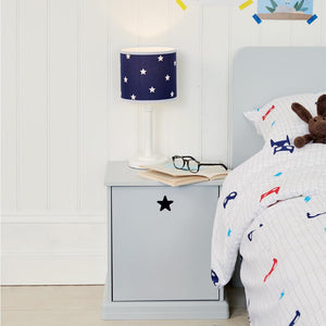 Children's Bedside Lamp, Navy Stardust