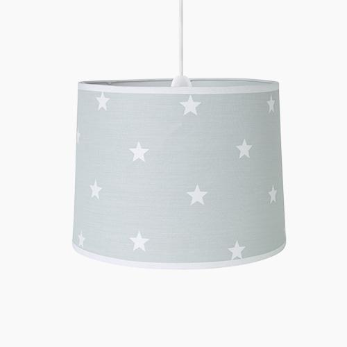 Easy Fit Ceiling Lamp Shade, Grey Stardust