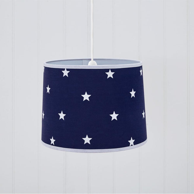 Easy Fit Ceiling Lamp Shade, Navy Stardust