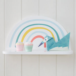 Rainbow Shelf with Cloud Hooks